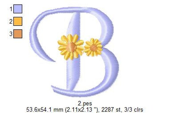INSTANT DOWNLOAD 26 Designs - Daisy Alphabet Letters Embroidery Designs