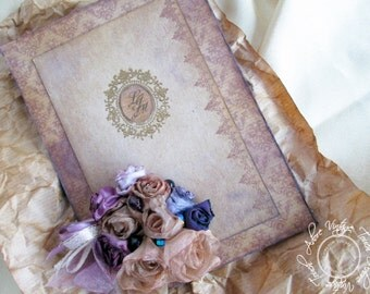Wedding Invitation Set Love&Recycle!; Recycled Invitation, Shabby Invitation, Distressed Invite, Invitation Set, Old Invite, Vintage Wedding