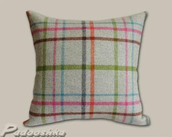 Gray plaid pillow cover Scottish plaid Tartan tweed Tweed pillow cover Tweed cushion cover Multicheck Grey Moon fabric Throw pillow cover