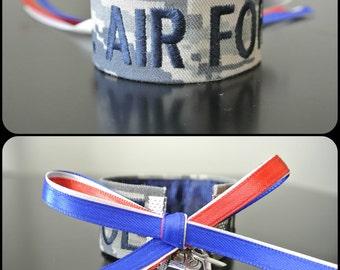 U.S. Air Force Branch Name Tape Bracelet