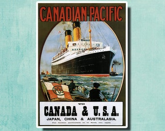 Canadian Pacific By Odim Rosenvinge - 1922 - Vintage Travel Poster SG4251