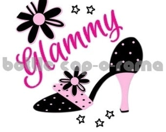 "GLAMMY GLAM GLAMMA 2, Grandma images, bottle cap images, bottlecap images, bottle cap designs, 1"" circles"