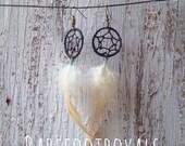 Sweet Cream - Dreamcatcher Earrings