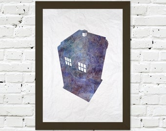 0035 Dr Who Tardis A3 Wall Art Print Multiple Sizes