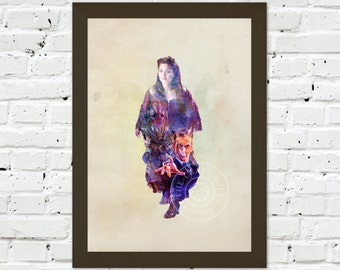 0080 Dr Who Clara Oswald 02 A3 Wall Art Print Multiple Sizes