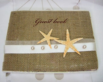 Wedding Guest Book 'Starfish' / Guest Book / Wedding book