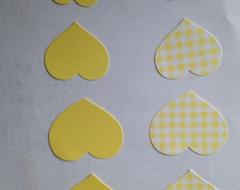 CTMH Yellow Patterned Paper Hearts