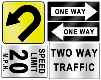 DIGITAL DOWNLOAD Urban Street Sign printables