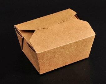 50pcs of Kraft paper lunch box, take away box A size 13 x 10.6cm