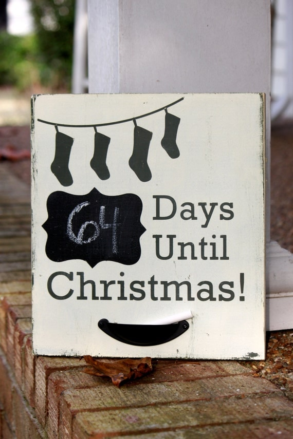 Countdown Until Christmas wood decoration for the holidays