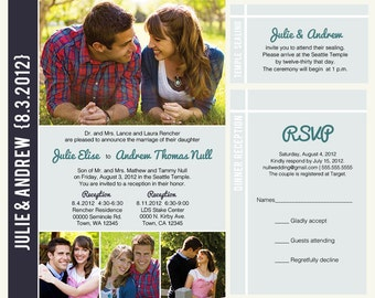 lds wedding invite  etsy, invitation samples