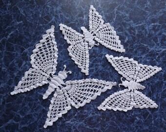 Set of 3 beautiful butterflies Crochet Doilies