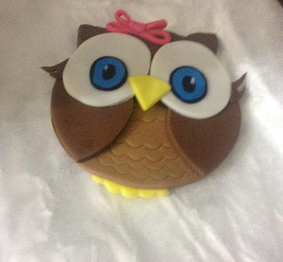 Edible Cake Image Owl : OWL Edible Cake topper