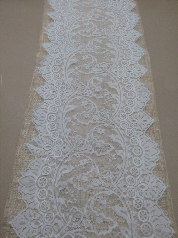 10 ft wedding table runner 14 wide lace table runner for 10 foot table runner