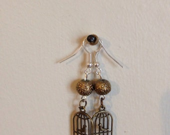 Vintage Birdcage Earrings