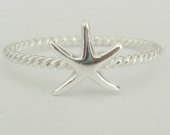 Starfish Ring - Sterling Silver Hi Polished