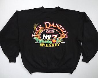 Jack Daniel's Old No. 7 Whiskey Sweatshirt Vintage 1980s