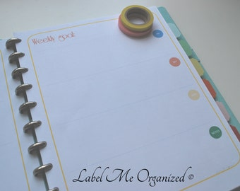 Perpetual Weekly Planner - Letter Sized