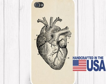 Vintage Heart Anatomy Antique Anatomy Heart Personalized Phone Case iPhone 6/6S, iPhone 5/5S, iPhone SE, Samsung iPhone7 iPhone 7