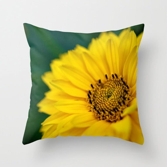 Yellow Flower Pillow, Macro Photography, Photo Pillow Cover, Yellow Daisy, Photo Home Decor, Throw Pillow, Indoor Pillow, Outdoor Pillow