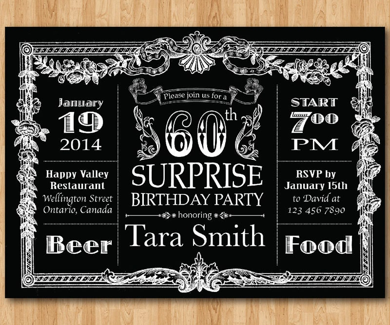 Surprise 60th birthday invitations etamemibawa surprise 60th birthday invitations filmwisefo Choice Image