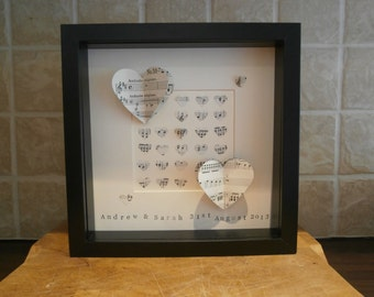 Wedding gift, picture of 3D Musical notes heart picture
