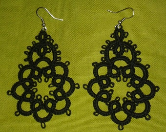 Handmade Tatting Earrings
