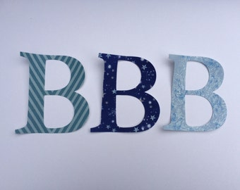 4 inch / 10cm tall Fabric Die Cut Iron-on Letter