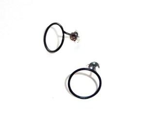 Contorno Circles  silver earrings