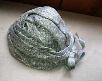 Greenish silver women's vintage hat