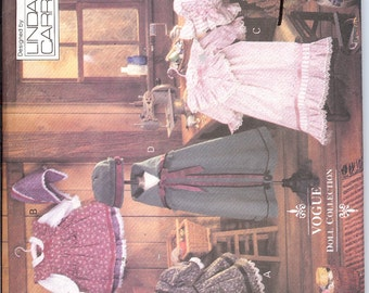 Vogue 8337 UNCUT Early American Doll Clothes  ID482 Sewing Pattern
