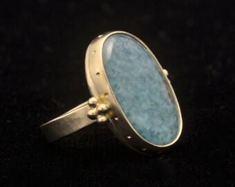 18K Quartz Ring