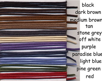 10 yd 2mm WAXED Cotton Cord  - Made in the USA (16w)