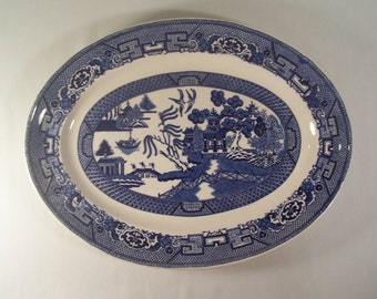 Vintage Blue Willow Plate Homer Laughlin  S138