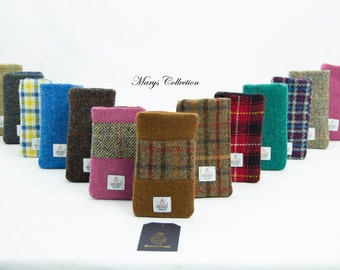 Harris Tweed 100% Wool Smartphone Cover sleeve Pouch All iPhones, Samsung Galaxy S3 S4, HTC 1 mini 17 Beautiful Colours