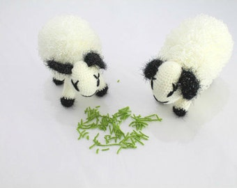 Toy Sheep - Crochet Lamb - All Natural Eco-friendly Wool Toy