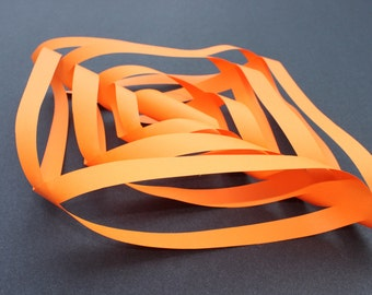 Halloween Paper Decoration, Party Decoration, Pumpkin Orange, Halloween Garland