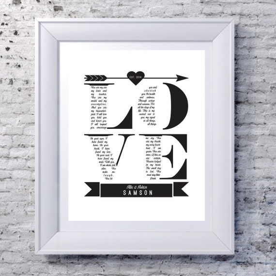 Personalised Wedding Vow Gifts : wedding gift, personalized wedding gift, custom wedding vows gift ...