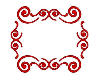 Machine Embroidery Design,  caligraphy border / frame, three sizes, #203