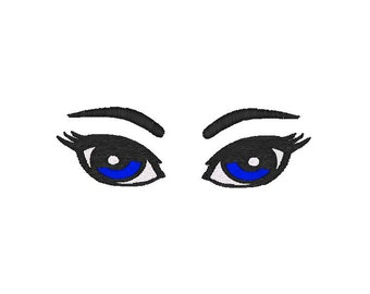 Machine Embroidery Design,  Eyes, perfect for dolls