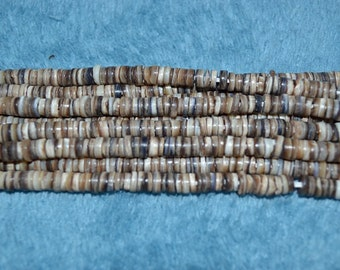 Tagnipis Shelll Heishi Bead strands. Handcrafted in Phillipines - 3-Strand Lots