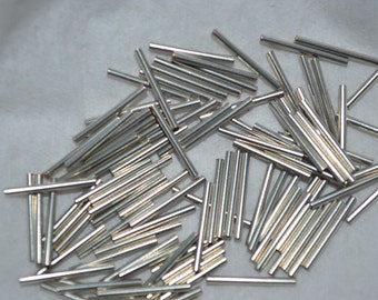 """100 (6 gms) - 1/2""""  Silver Plate Liquid Silver Beads (3020007)"""