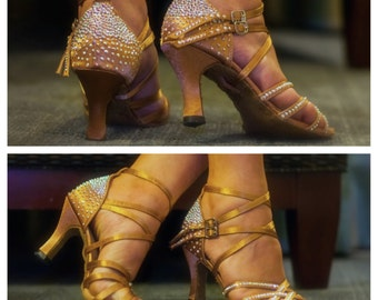 Full Swarovski Crystalized Woman's Wedding/Salsa Shoes (Shoes not included)