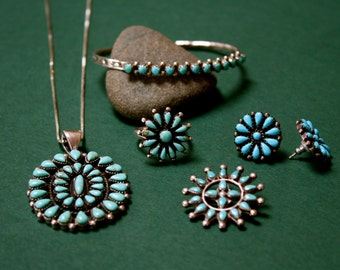 Native American Turquoise Jewelry Set