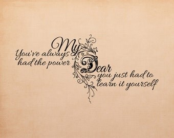 The Power inspirational word art. Digital download