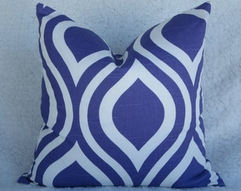 Purple pillow cover 16x16, Emily pillow cover, zipper closure pillow cover, purple throw pillow cover, toss pillow cover