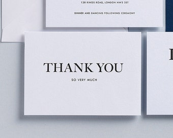 15% Off Last in Stock - I Do - Letterpress Thank you card