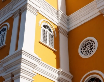 Church Detail, Island Church, Yellow Church, Willemstad, Curacao, Caribbean, Fine Art Photograph for Your Home and Office Wall Decor