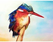 Bird Watercolour Painting Giclee Print, A4 archival reproduction of a beautiful, original artwork by Ella Smethurst