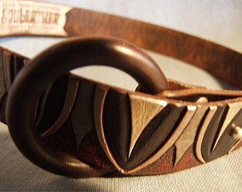 Philosoul ~ hand-carved 'n' tooled leather belt